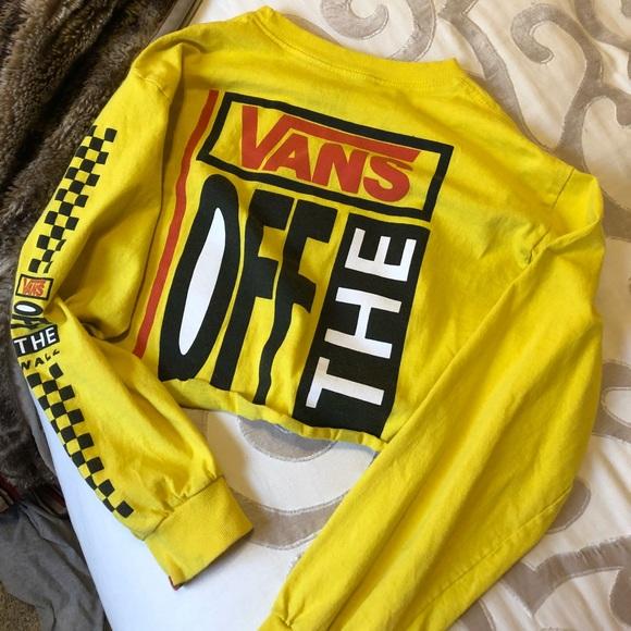 9bd65819c7d Women's Vans cropped long sleeve shirt. M_5b01c34da4c4856d091f9cab